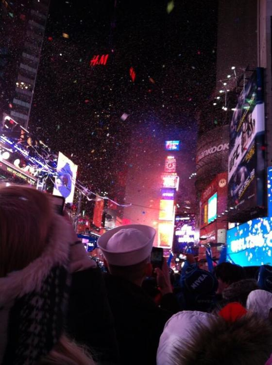 My sister was in NYC for NYE last night and took this awesome picture!