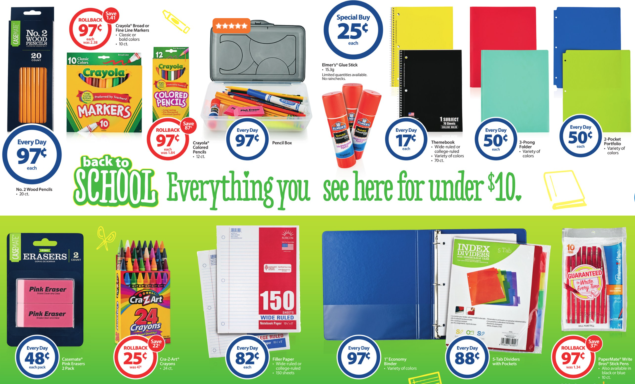 Walmart sale ad for this weekend - I M Going To Be Honest With You Walmart Is My Favorite Place To Buy The Back To School Basics Because They Probably Have The Best Deals